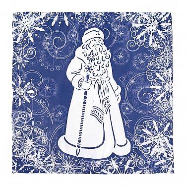 "Набор салфеток ""Зимние узоры и Дед Мороз"""