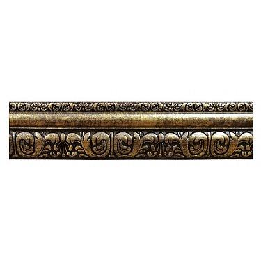 """Карниз потолочный багетный """"Сонет"""", 3 ряда, античное золото"""