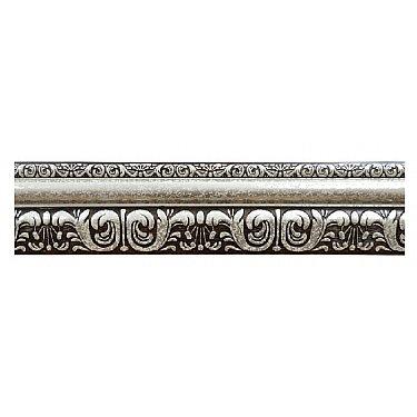 """Карниз потолочный багетный """"Сонет"""", 3 ряда, белое серебро, 200 см-A"""