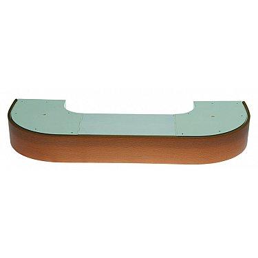 """Карниз потолочный пластиковый поворотный """"Стандарт"""", 3 ряда, бук"""