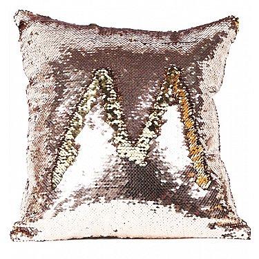Подушка переводная из пайеток Magic Shine, медное золото, 40*40 см-A