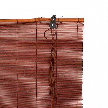 """Бамбуковая рулонная штора """"Осака"""", венге, 80 см-A"""