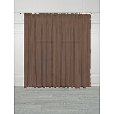 Тюль Arya Veil V-2054, коричневый