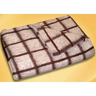 """Одеяло шерстяное """"Эконом"""", коричневый, бежевый, 140*205 см-A"""
