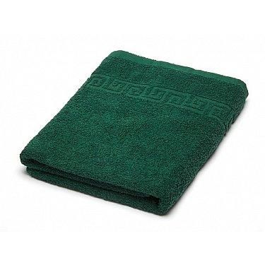 Полотенце махровое Ашхабад греческий бордюр, темно-зеленый