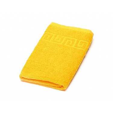 Полотенце махровое Ашхабад греческий бордюр, светло-желтый