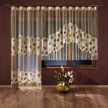 Комплект штор №3396, кремовый