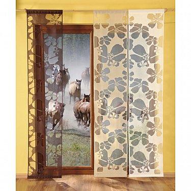 Японская штора №9897-03, темно-коричневый
