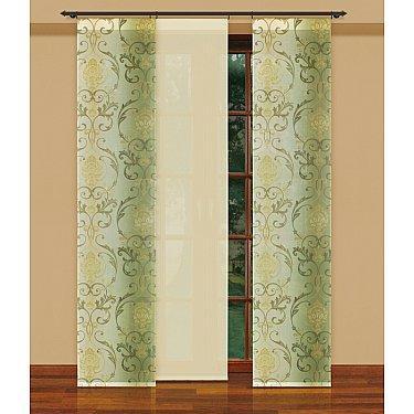 Японская штора №202240/50е цветы, кремовый