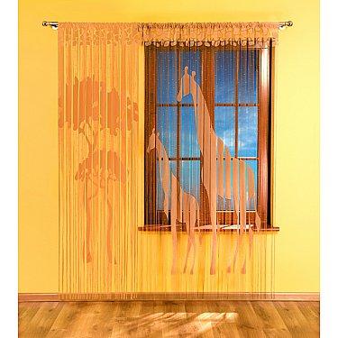 Кисея нитяная штора Wisan 3332 (90*240;150*240), кофейный
