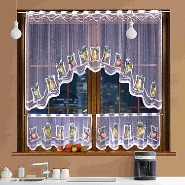 Комплект штор для кухни №3340, белый