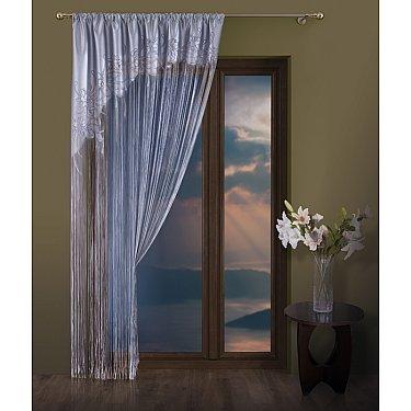 Кисея нитяная штора Judi, серебряный, 150*250 см