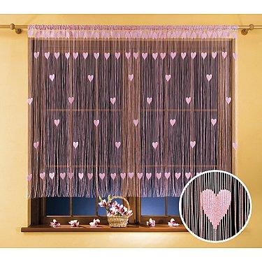 Кисея нитяная штора Walentynka, розовый, 270*150 см